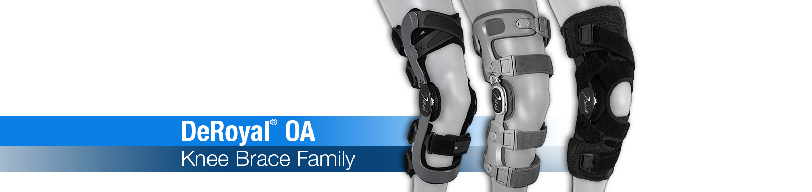 DeRoyal OA Knee Bracing Family